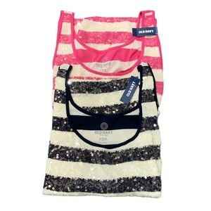 2 NEW Old Navy Sequin Tanks